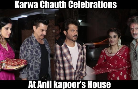 Bollywood Celebrities At Anil Kapoor House For Karwa Chauth Celebrations