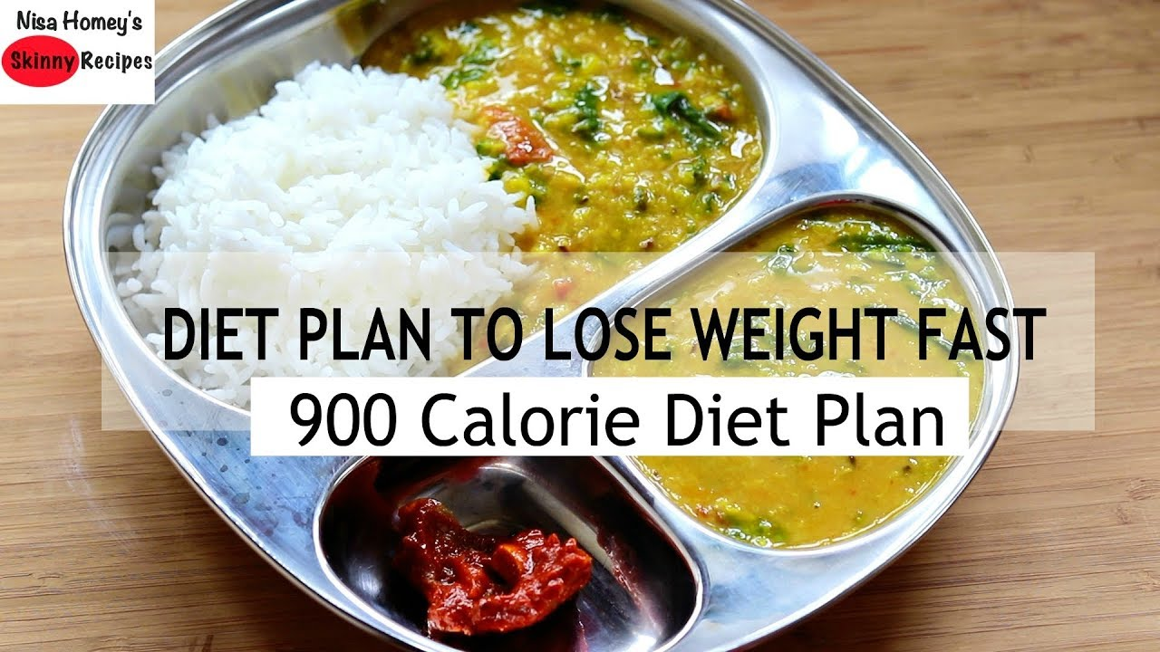 Diet Plan To Lose Weight Fast – 900 Calories – Full Day Meal Plan For W