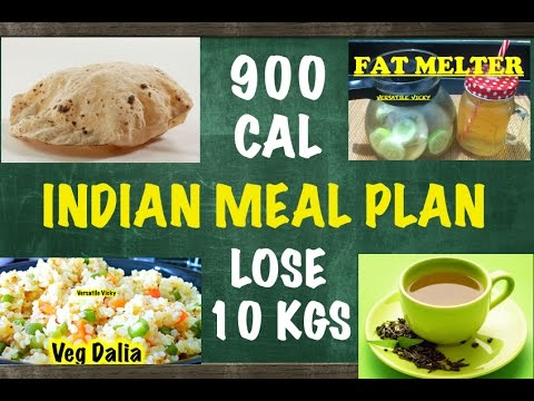HOW TO LOSE WEIGHT FAST 10Kg in 10 Days – Indian Meal Plan / Ind