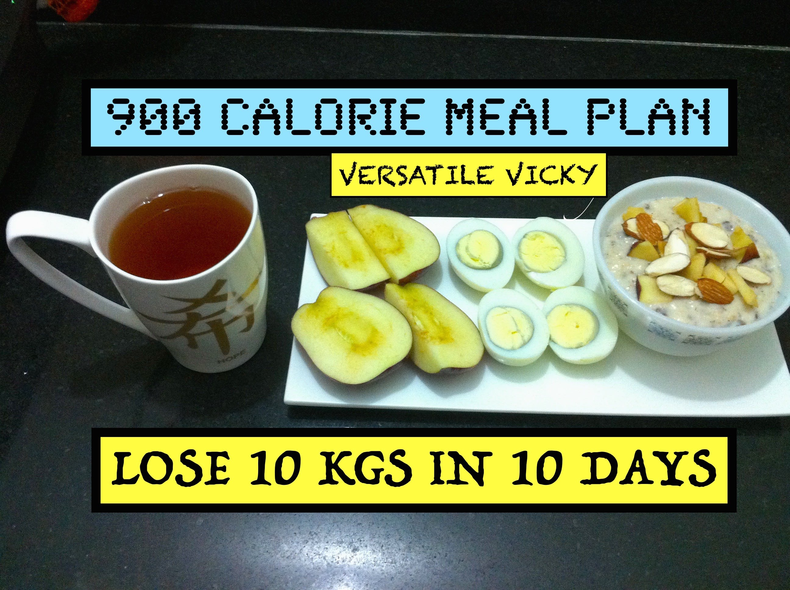 HOW TO LOSE WEIGHT FAST 10Kg in 10 Days   900 Calorie Egg Diet By