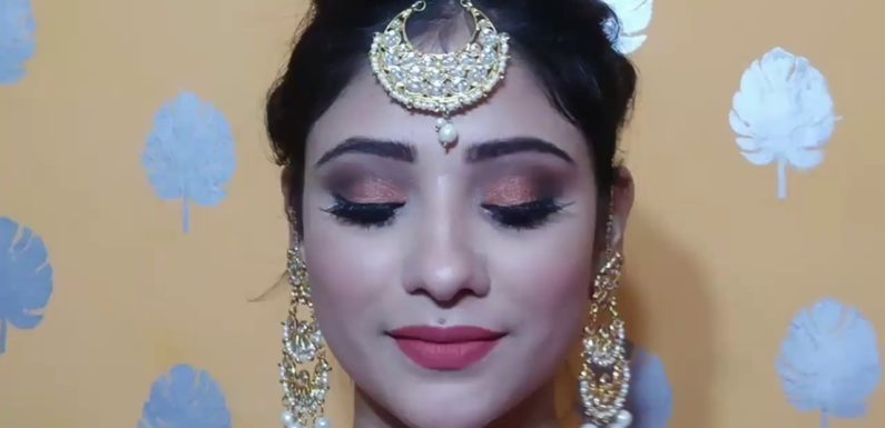 INDIAN WEDDING GUEST MAKEUP   party Makeup +hair style    shystyles