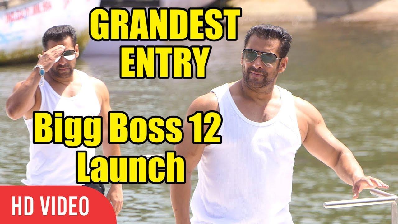 Salman Khan GRANDEST Entry at Bigg Boss 12 Launch   GOA Bigg Boss Launch