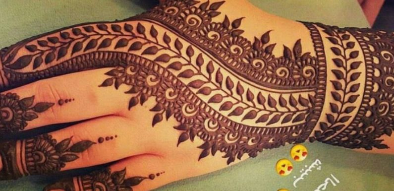 Stunning and beautiful mehndi design for backhand