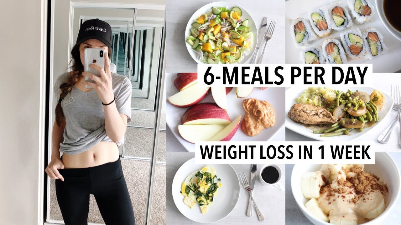 WHAT I EAT IN A WEEK TO LOSE WEIGHT (Results) | 6 Meals-per-day