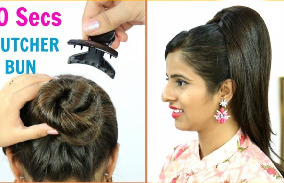 30 Secs में Clutcher से बनाये Juda Hairstyles – Bun/Updo Hairstyles for Long/Medium Hair | Anaysa
