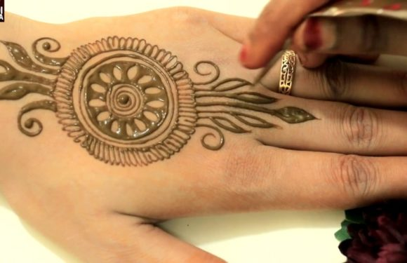 Diwali Bhai Dooj Special Girlish Henna Mehndi Design | Mehendi Design For Front By MehndiArtistica
