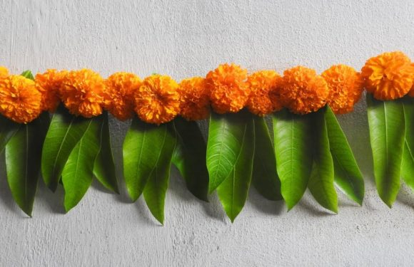 Diwali Toran Making With Marigold Flowers + Mango Leaves Diwali Decoration Ideas