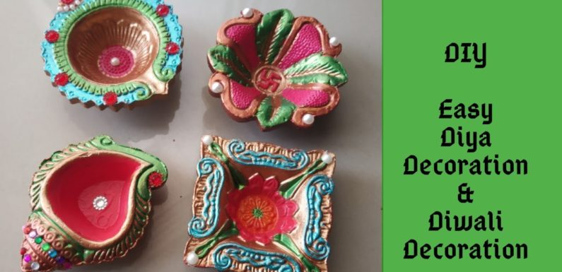 Diya Decoration | Diwali Decoration Ideas | DIY