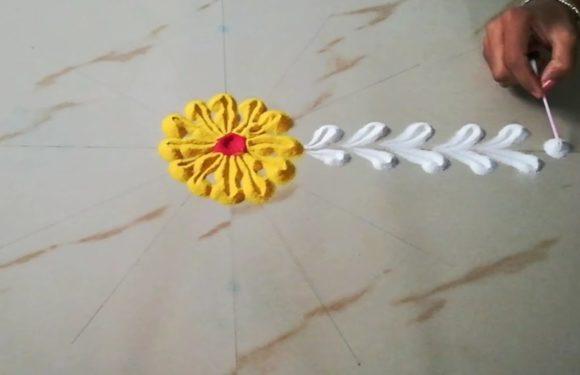 Easy Rangoli | Rangoli Designs | Rangoli Designs for Diwali | By Sangeeta