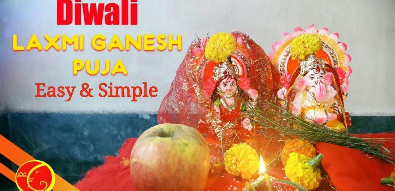 Ganesh Laxmi Diwali puja vidhi easy and simple   dia pujan diwali   diwali puja vidhi 2018 mantra