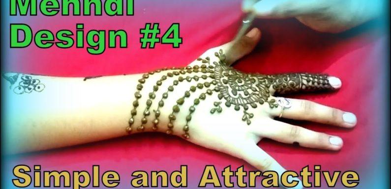 Mehndi Designs    Simple and Attractive Mehndi Design #4