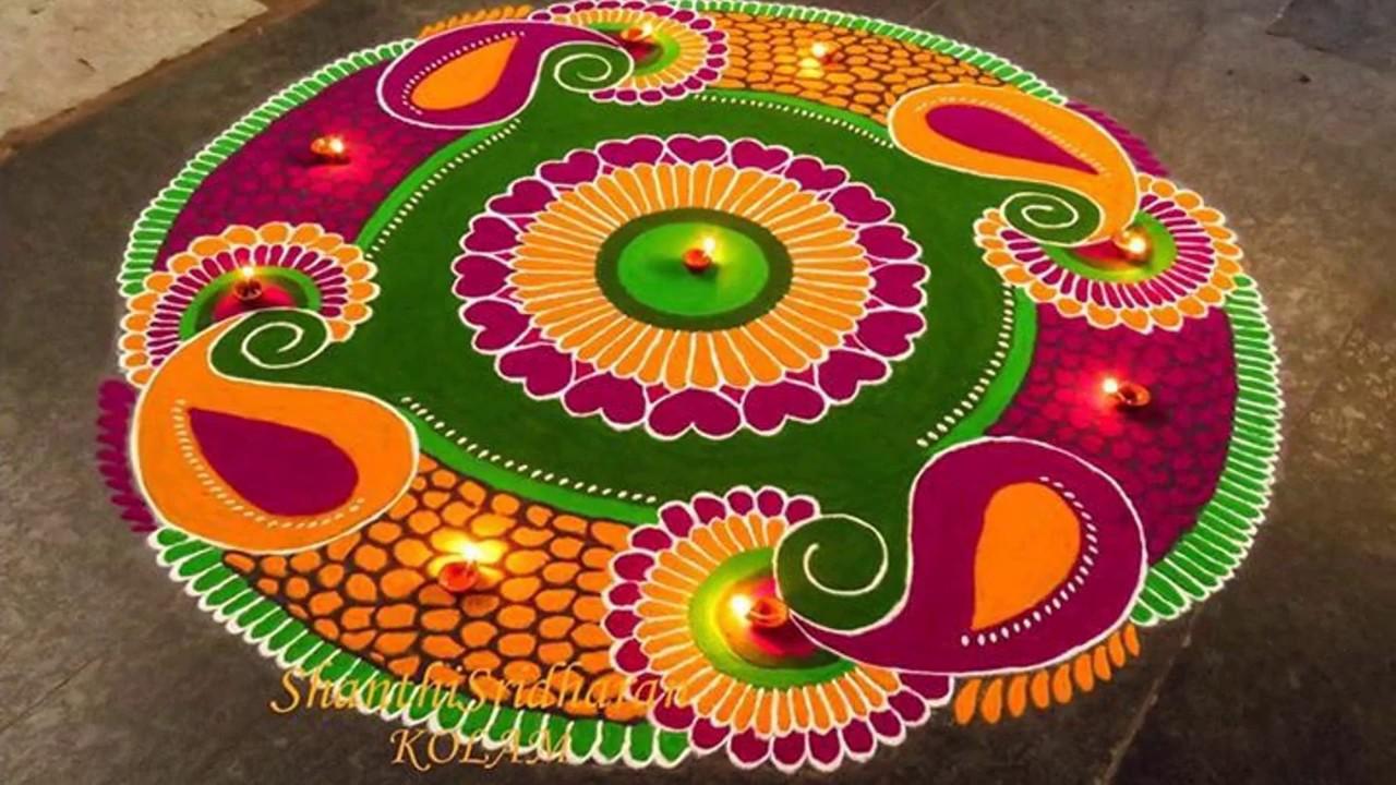 new rangoli design || Easy Rangoli Designs || Rangoli ...