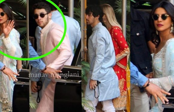 Priyanka Chopra and Nick Jonas do pooja at home and start Wedding festivities
