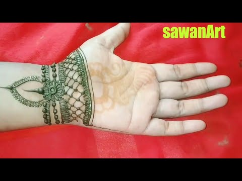 Stylish Traditional Gaping Mehndi Design | Diwali and Bhaiya Duj specail