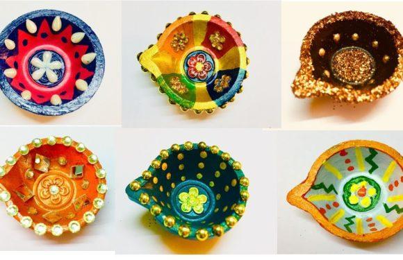 Very Easy Diya decoration idea for diwali | Diya decoration | diya decoration competiton