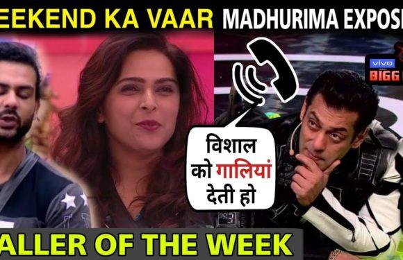 Biggboss 13 weekend ka vaar caller of the week exposed Madhurima Tuli in front of Vishal