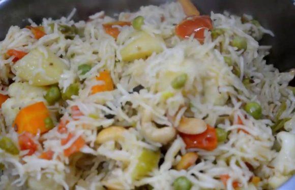 5 Minutes Vegetable Pulao Recipe | Vegtable Pulao | Vegetable Rice | Quick Veg Recipe