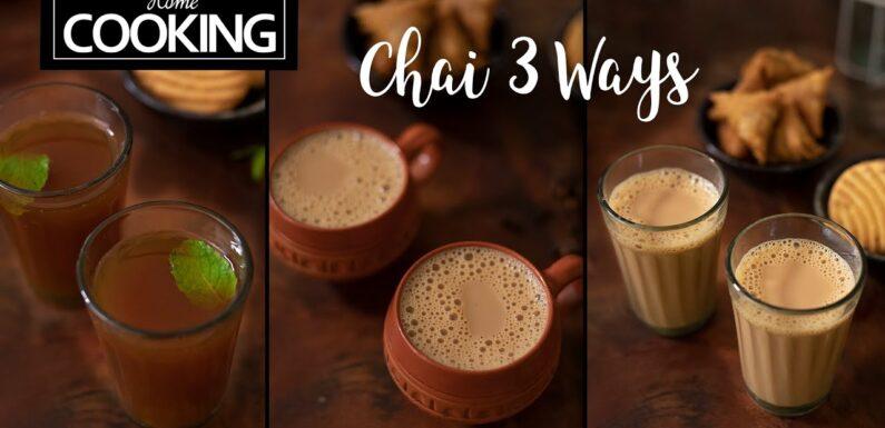 Chai 3 ways | Kattan Chai | Masala Chai | Ginger Cardamom Tea