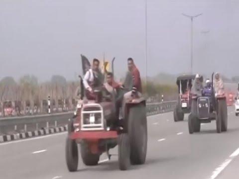 Farmers Protest:ट्रैक्टर मार्च के जरिए किसानों का शक्ति प्रदर्शन
